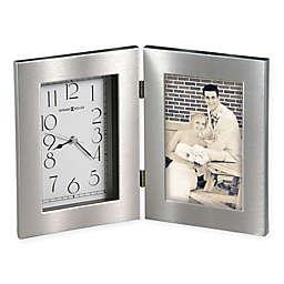 Howard Miller Lewiston Frame Tabletop Clock in Silver