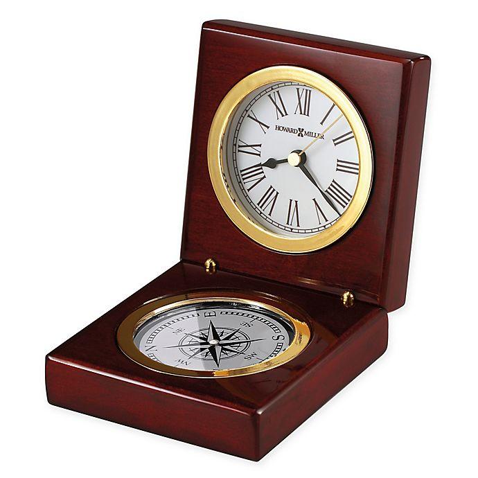 Alternate image 1 for Howard Miller Pursuit Tabletop Clock in Rosewood Hall