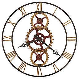 Howard Miller 49-Inch Hannes Wall Clock in Antique Brass