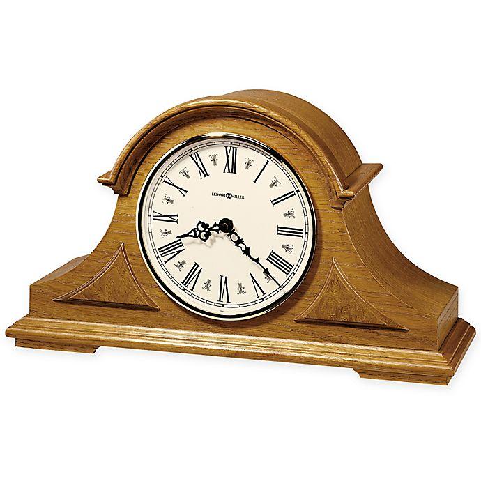Alternate image 1 for Howard Miller Burton Mantel Clock in Golden Oak