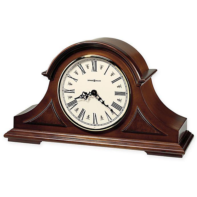 Alternate image 1 for Howard Miller Burton II Mantel Clock in Windsor Cherry