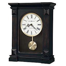 Howard Miller Mia Mantel Clock in Worn Black