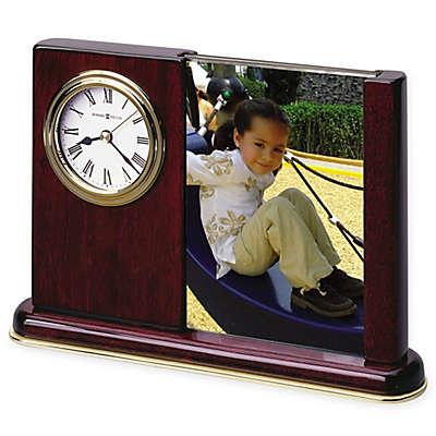 Howard Miller Portrait Caddy Tabletop Clock in Rosewood