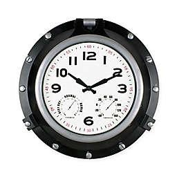 Poolmaster® Porthole Clock with Hygrometer/Thermometer