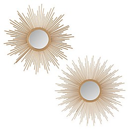 Madison Park Fiore Sunburst Mirror in Gold