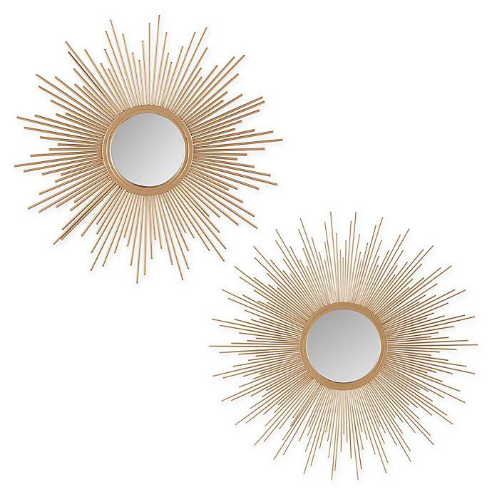 Alternate image 1 for Madison Park Fiore Sunburst Mirror in Gold