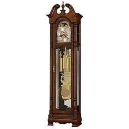 Howard Miller Baldwin Floor Clock in Cherry Bordeaux