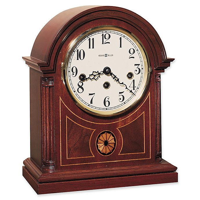 Alternate image 1 for Howard Miller Barrister Mantel Clock in Copley Mahogany