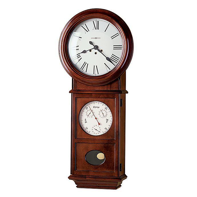 Alternate image 1 for Howard Miller Lawyer II 15.25-Inch Wall Clock in Windsor Cherry