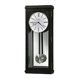 Howard Miller Alvarez 26.25-Inch Wall Clock in Black Satin