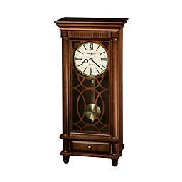 Howard Miller Clock in Lorna Mantel Clock in Tuscany Cherry