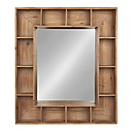 Kate and Kaurel Kieren 26-Inch x 30-Inch Wood Cubby Storage Mirror