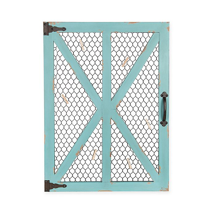 Alternate image 1 for Kate and Laurel Wickett Wood Window Photo Collage Clip Wall Frame in Teal