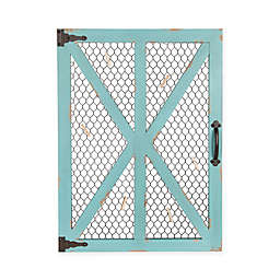 Kate and Laurel Wickett Wood Window Photo Collage Clip Wall Frame in Teal