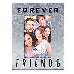 Lawrence Frames 4-Inch x 6-Inch Cooper Galvanized Forever Friends Picture Frame