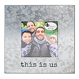 """Lawrence Frames """"This is Us"""" 4-Inch x 4-Inch Cooper Galvanized Frame in Silver"""