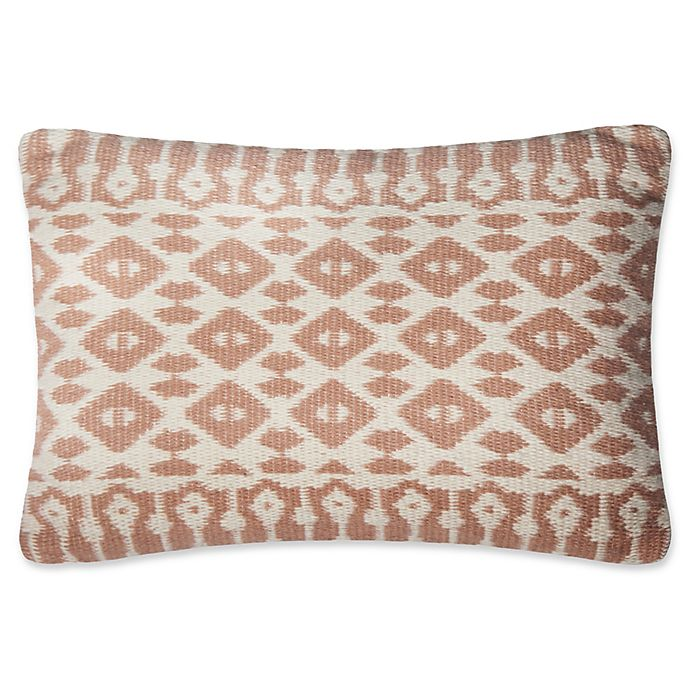 Alternate image 1 for Magnolia Home Emmie Kay Oblong Throw Pillow in Blush/Ivory