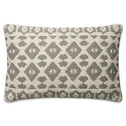 Magnolia Home Emmie Kay Oblong Throw Pillow in Grey/Ivory