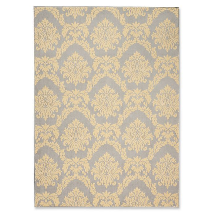 Bed Bath And Beyond Area Rugs Roselawnlutheran Earth Tone: Nourison Grafix Woven 5'3 X 7'3 Area Rug In Grey