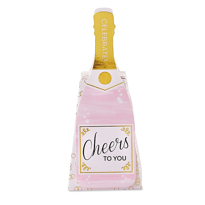 Alternate image 1 for Kate Aspen® 12-Pack Pink Champagne Favor Boxes