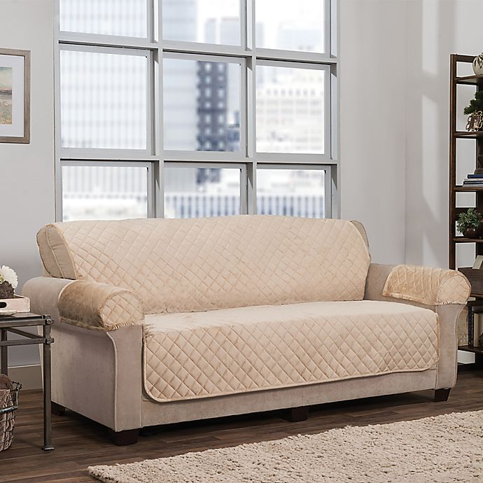 Alternate image 1 for Smart Fit 3-Piece Waterproof Plush Furniture Cover Collection