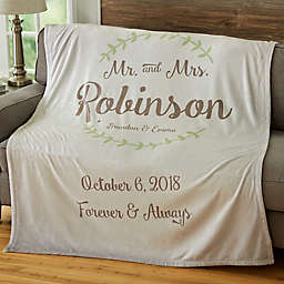 Mr. & Mrs. PZ Wedding & Anniversary Fleece Blanket