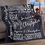 Couple In Love Personalized 50x60 Fleece Blanket