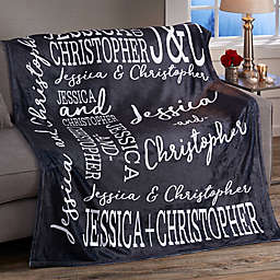 Couple In Love 50-Inch x 60-Inch Fleece Blanket