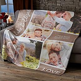 Romantic Love Photo Collage 50-Inch x 60-Inch Fleece Blanket