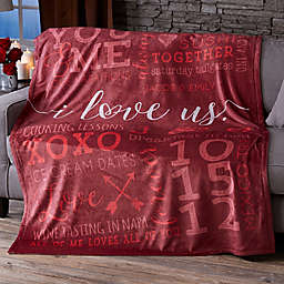 I Love Us 50-Inch x 60-Inch Fleece Blanket