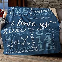 I Love Us Sherpa Blanket