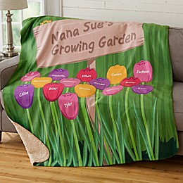 Grandma's Garden Sherpa Blanket