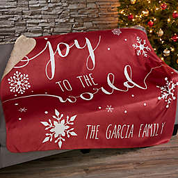 Christmas Quotes Sherpa Blanket