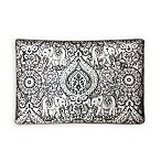 Silver Elephant Beaded Pillow Grey