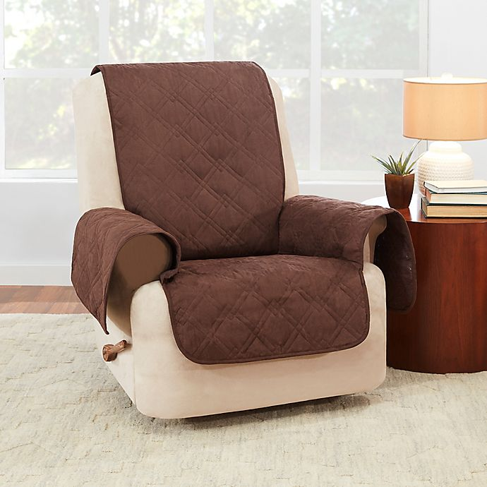 Alternate image 1 for Sure Fit® Waterproof Recliner Furniture Protector in Chocolate