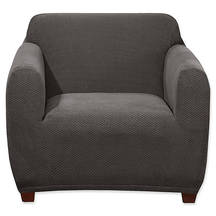 Alternate image 1 for Sure Fit® Stretch Hudson Chair Cover in Grey