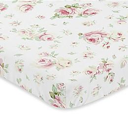 Sweet Jojo Designs Riley's Roses Fitted Mini-Crib Sheet