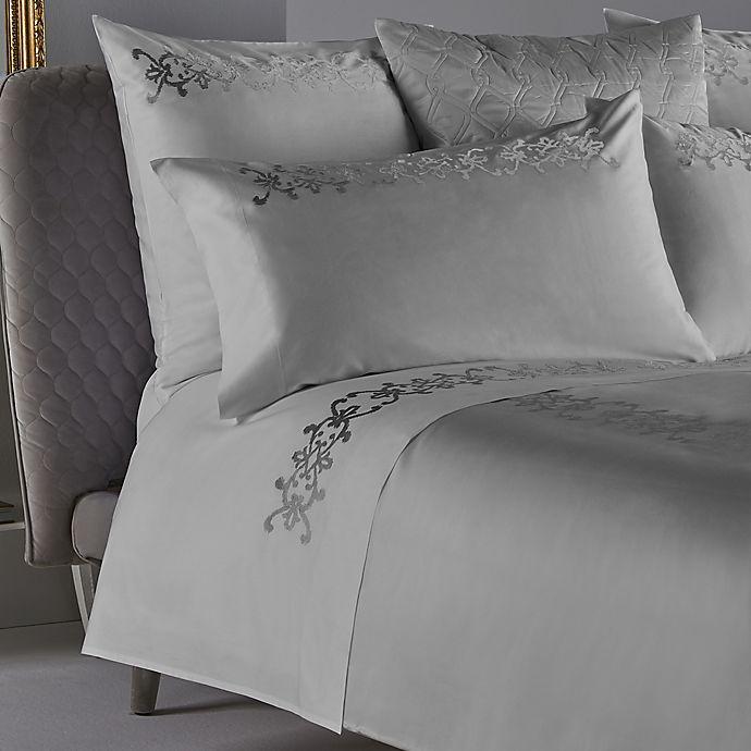 Alternate image 1 for Frette At Home Antico Standard Pillowcase in White/Silver