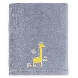 Little Love by NoJo® Giraffe Time Fleece Blanket in Grey/Yellow