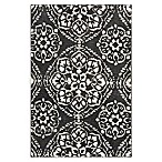 Cambridge Microfiber Loomed 1'8 x 2'8 Accent Rug in Steel