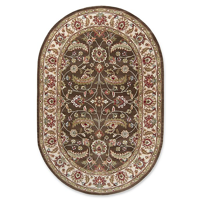 Alternate image 1 for Surya Caesar Classic Hand-Tufted 6' x 9' Oval Area Rug in Brown/Green