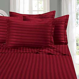 Elegant Comfort Wrinkle Resistant Stripe Sheet Sheet