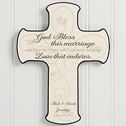 Wedding Blessing Wall Cross