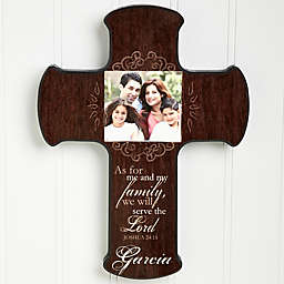Family Blessings Photo Cross