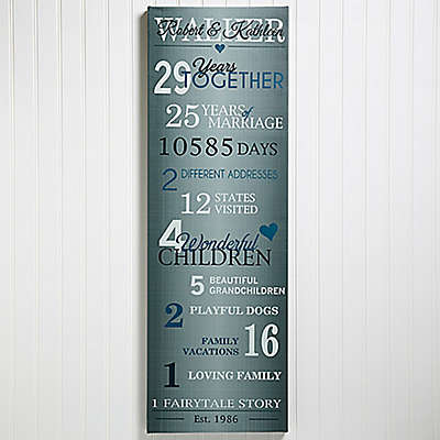 Years Together Anniversary 12-Inch x 36-Inch Canvas Print