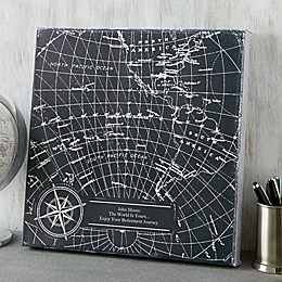 Industrial World Map Canvas Print