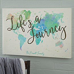 The Journey World Map Canvas Print