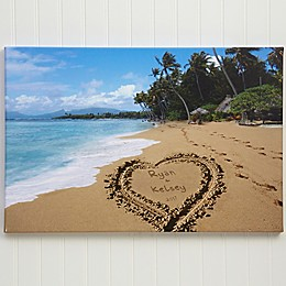Our Paradise Island Personalized Canvas Print Collection