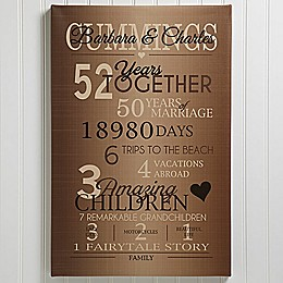Our Years Together Anniversary Canvas Print