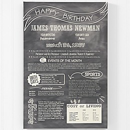 The Day You Were Born Birthday History Canvas Print